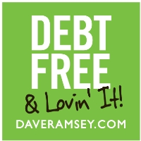 dave debt free sticker